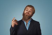 Man Using Expensive Perfume Ea...
