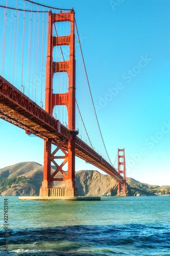 Keuken foto achterwand Art Studio Golden Gate Bridge in San Francisco, USA