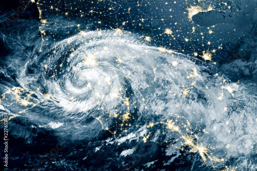 Deurstickers Nasa Hurricane Michael made its way into North Carolina. Elements of this image furnished by NASA.