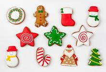Set Of Christmas Gingerbread O...