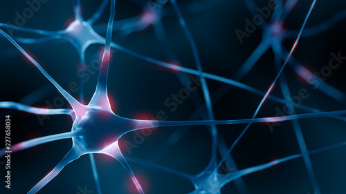 Fotografía  3d Render of active nerv cells
