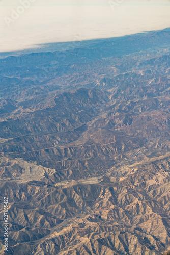 In de dag Centraal-Amerika Landen An aerial view of California San Andreas, California, USA
