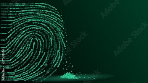 Obraz fingerprint digital footprint vector illustration - fototapety do salonu