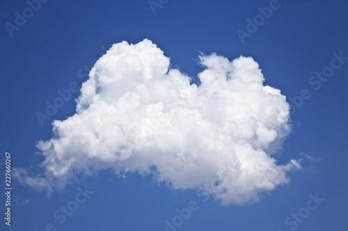 Nube dibujada sobre cielo azul Canvas Print