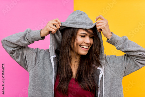 Fototapeta Portrait of young beautiful girl