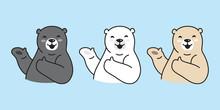Bear Vector Polar Bear Logo Ic...