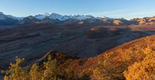 Snowy Moutain Peaks Shade A Ri...