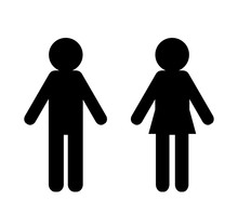 Man And Woman Icons Isolated On White Bckground Vector