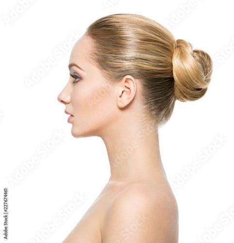 Cuadros en Lienzo  Profile face of  young  woman