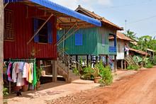 Koh Chen; Kingdom Of Cambodia - August 21 2018 : Picturesque Village