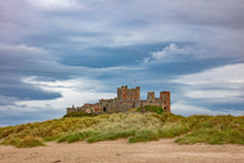 Windswept Beach And Castle