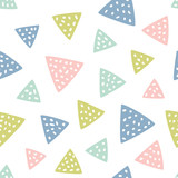 Childish seamless pattern with triangles. Creative texture for fabric, textile. - 227679246
