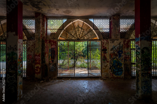 Graffiti and views of the abandoned city of Consonno (Lecco, Italy) Fototapeta