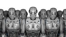 3D Render Futuristic Robot Arm...