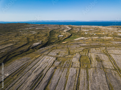 Aerial view of Inishmore on the Aran Islands, Ireland. Canvas Print