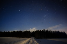 Orion Constellation And Sirius...