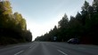 Driving through the mountains on I90 in the Pacific Northwest