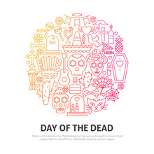 Day Of The Dead Circle Concept