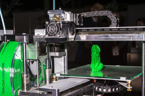 Fotografie, Obraz  Electronic three dimensional plastic printer during work , 3D printer