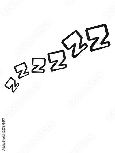 Zzz Schlafen Mude Erschopft Schnarchen Abend Nacht Bett Decke