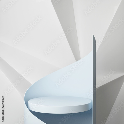 Podium with hipster abstract background composition , 3d render, 3d illustration Wall mural
