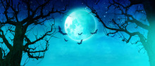 Halloween Motiv Mit Vollmond
