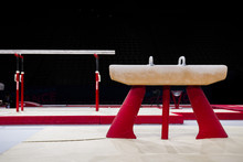 A Pommel Horse In A Gymnastic Arena