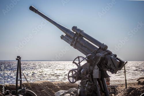 World War II artillery cannon Canvas Print