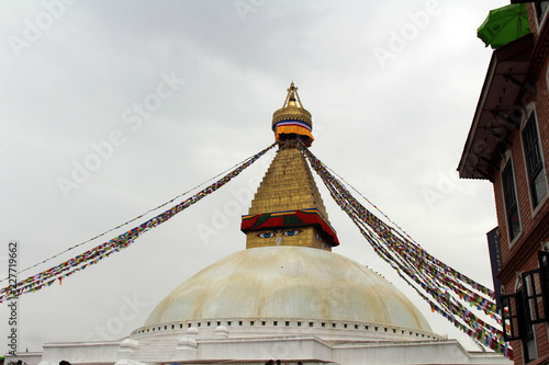 Staande foto Nepal The giant magnificent stupa of Boudhanath in Kathmandu