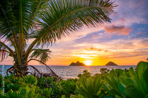 Gorgeous Lanikai Beach Sunrise Buy This Stock Photo And