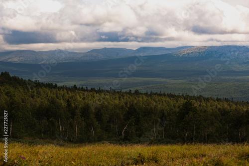 Kvarkush plateau, landscape paint, Kvarkush, Ural, Russia