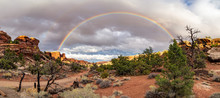 A Complete Rainbow, Elephant Rock, The Needles District, Canyonlands National Park, Utah