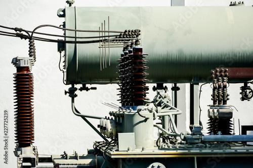 Zdjęcie XXL maszyny rur i turbiny parowej w zakładzie, w Lizbonie Stolica Portugalii