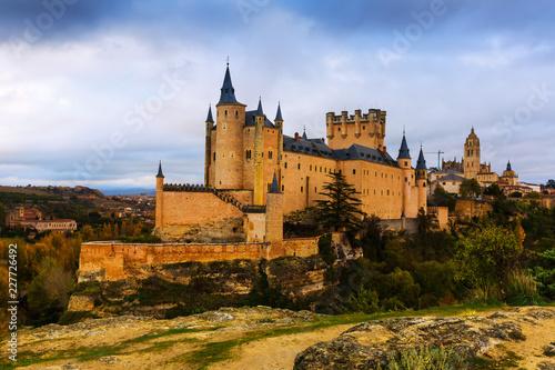 Keuken foto achterwand Historisch geb. Segovia with Alcazar and Cathedral
