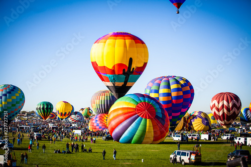 Aluminium Prints Balloon NM Hot Air Balloon Fiesta