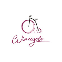 Wine And Bicycle Logo Design I...