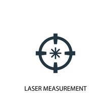 Laser Measurement Icon. Simple Element Illustration. Laser Measurement Concept Symbol Design. Can Be Used For Web And Mobile.