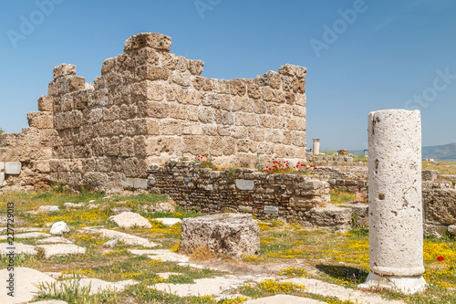 Foto op Aluminium Oude gebouw Ruins of the ancient town Laodicea on the Lycus, Turkey