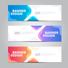 Vector Abstract Design Banner ...