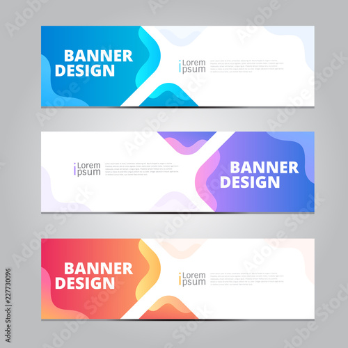 Vector abstract design banner web template. Tableau sur Toile
