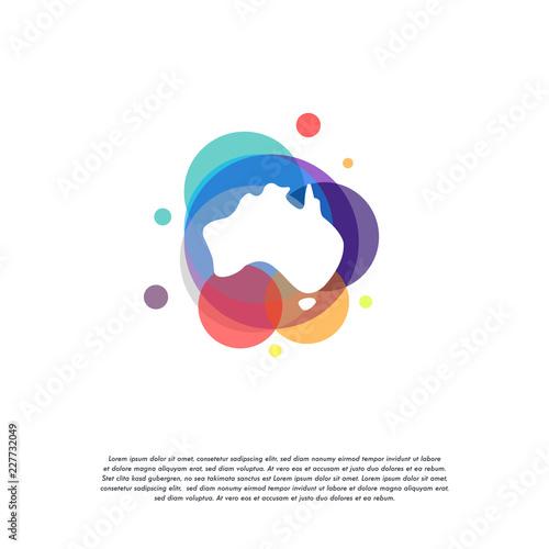 Map Of Australia Logo.Colorful Australian Logo Vector Australia Map Logo Designs Template