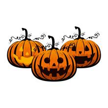 Happy Halloween Pumpkins Chara...