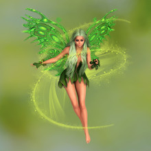 Fairy Surrounded With Magical ...