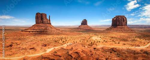 In de dag Centraal-Amerika Landen Monument Valley Navajo Tribal Park - USA