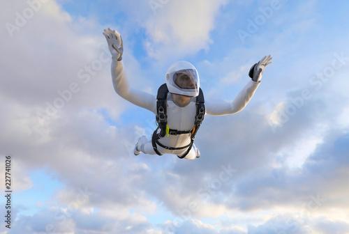 Skydiver Fallschirmspringer im freien Fall