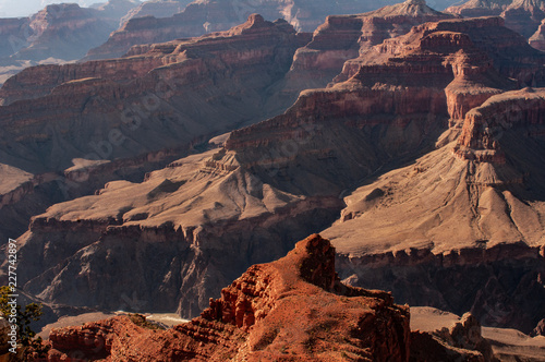 Tuinposter Baksteen Grand Canyon National Park North Rim Magnificent Landscape, Arizona, United States. The view of the sunset at Cape Royal of the North Rim of the Grand Canyon, panoramic photography.
