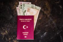 Turkish Banknotes And Passport...