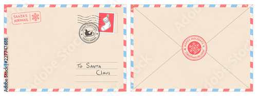 Fotomural  Dear santa claus mail envelope