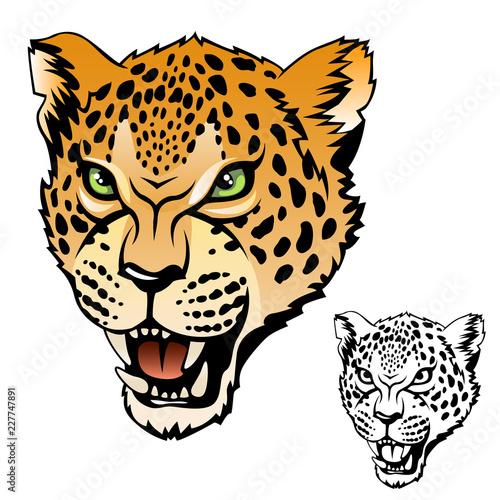 jaguar head Tableau sur Toile