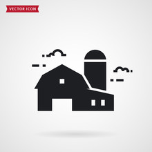 Farm Barn And Silo. Farmhouse ...